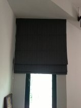 Roman blinds in house