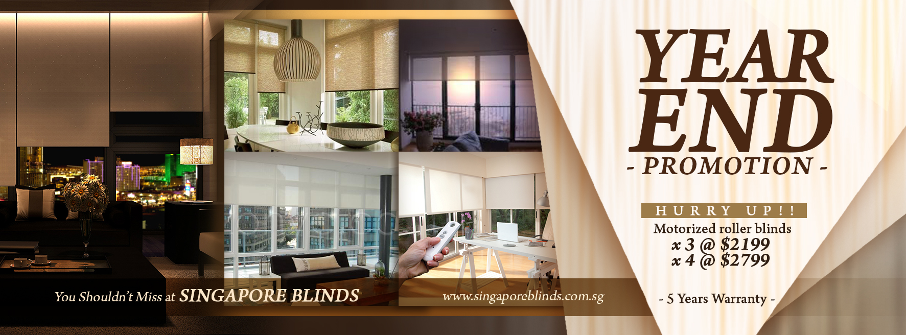 Motorized Roller Blinds Promo